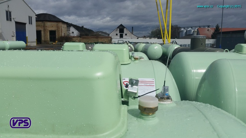 Telemetry system on VPS tank for LPG storage